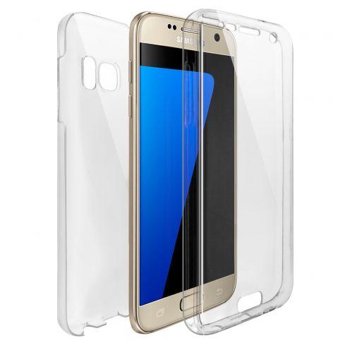 Coque Samsung Galaxy S7 (G930) Intégrale Gel Defense 360° transparente