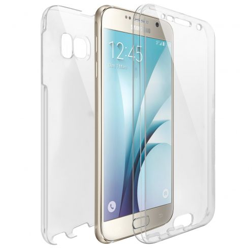 Coque Samsung Galaxy S6 (G920) Intégrale Gel Defense 360° transparente