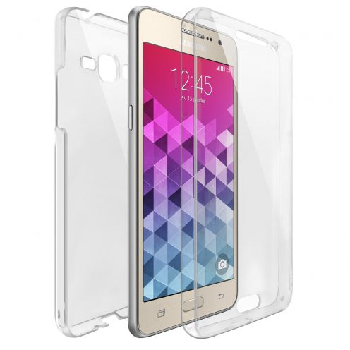 Coque Samsung Galaxy Grand Prime (G530) Intégrale Gel Defense 360° transparente