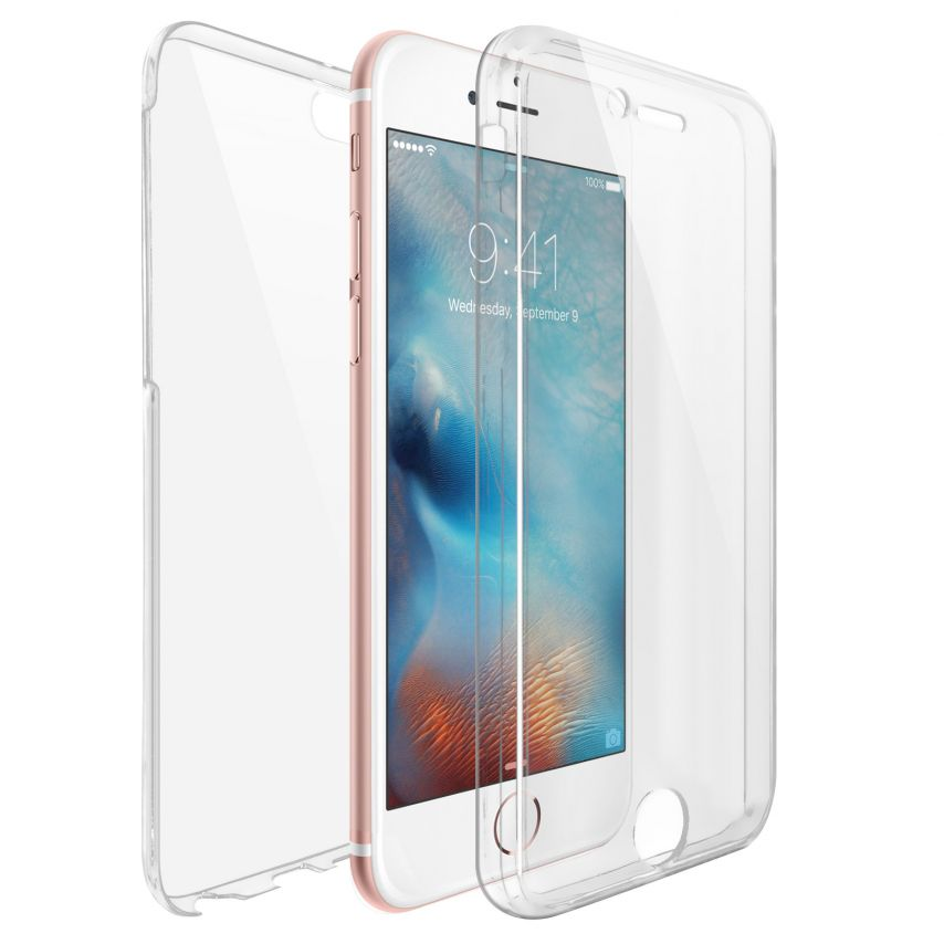 Coque Apple iPhone 6/6s (4.7) Intégrale Gel Defense 360° transparente