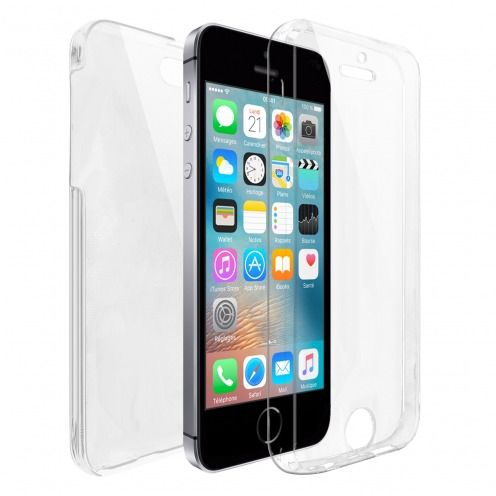 Coque Apple iPhone SE/5/5s Intégrale Gel Defense 360° transparente