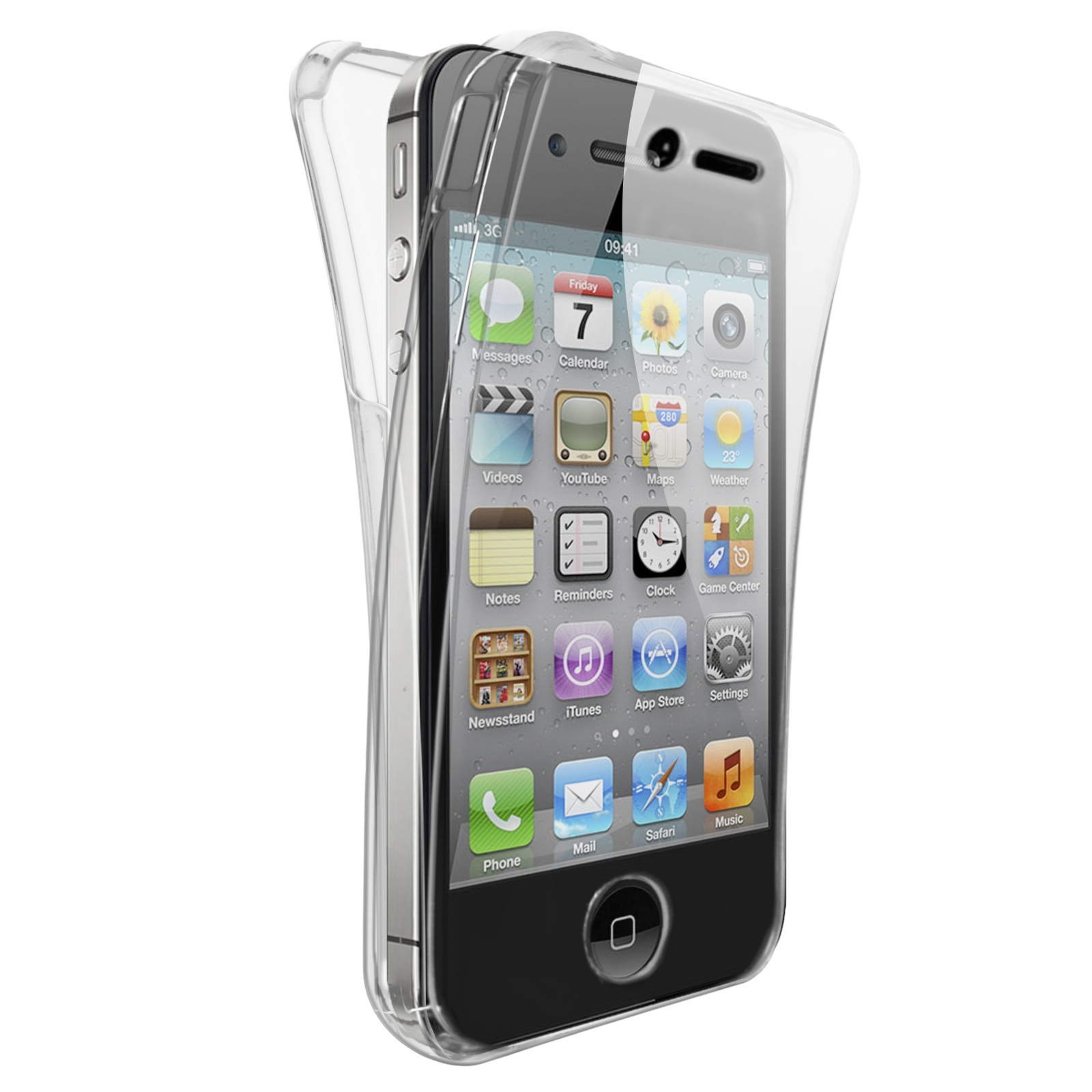 coque apple iphone 4 4s x doria defense 360 transparente. Black Bedroom Furniture Sets. Home Design Ideas