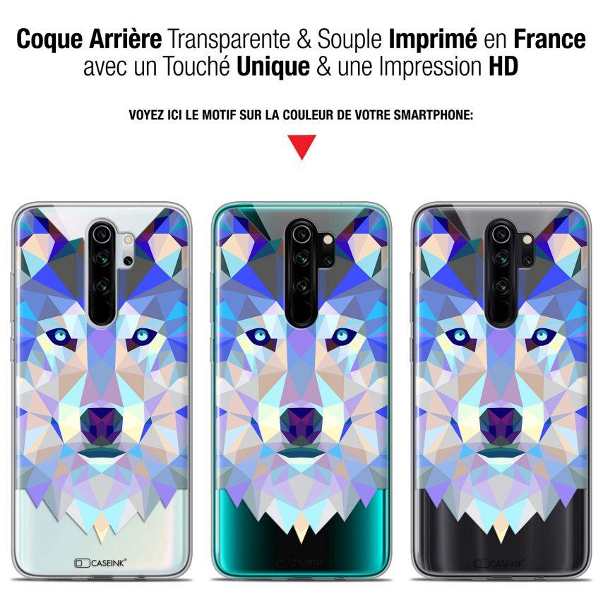 "Coque Gel Xiaomi Redmi Note 8 PRO (6.5"") Extra Fine Polygon Animals - Loup"