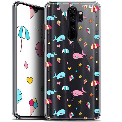 """Coque Gel Xiaomi Redmi Note 8 PRO (6.5"""") Extra Fine Motif - Baleine à la Plage"""