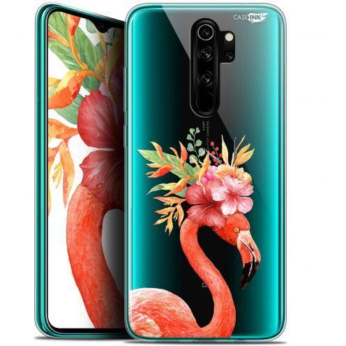 "Coque Gel Xiaomi Redmi Note 8 PRO (6.5"") Extra Fine Motif - Flamant Rose Fleuri"