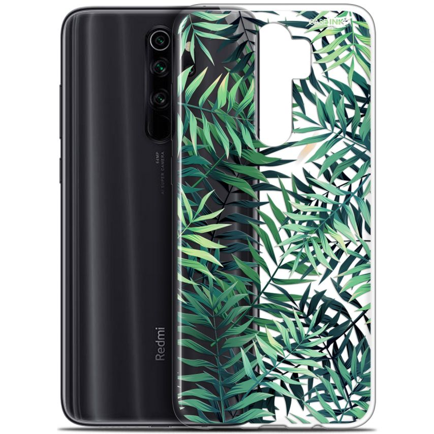"""Coque Gel Xiaomi Redmi Note 8 PRO (6.5"""") Extra Fine Motif - Feuilles des Tropiques"""