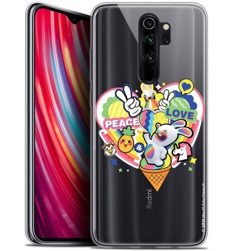 "Coque Gel Xiaomi Redmi Note 8 PRO (6.5"") Extra Fine Lapins Crétins™ - Peace And Love"