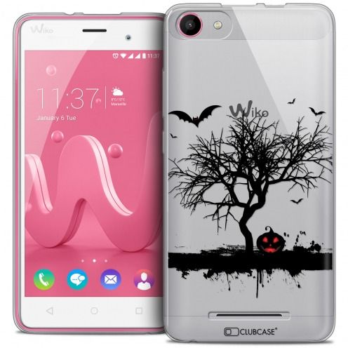 Coque Crystal Gel Wiko Jerry Extra Fine Halloween - Devil's Tree