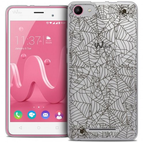 Coque Crystal Gel Wiko Jerry Extra Fine Halloween - Spooky Spider