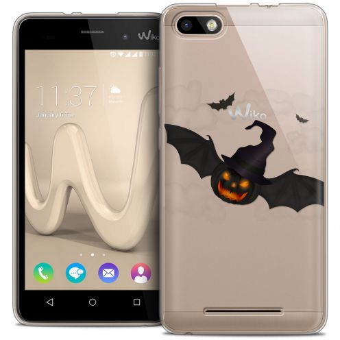 Coque Crystal Gel Wiko Lenny 3 Extra Fine Halloween - Chauve Citrouille