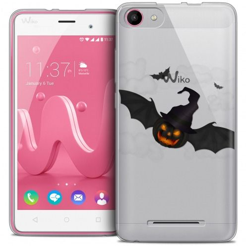 Coque Crystal Gel Wiko Jerry Extra Fine Halloween - Chauve Citrouille