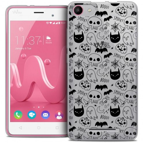 Coque Crystal Gel Wiko Jerry Extra Fine Halloween - Spooky