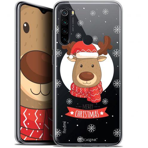 """Coque Gel Xiaomi Redmi Note 8 (6.3"""") Extra Fine Noël 2017 - Cerf à Echarpe"""