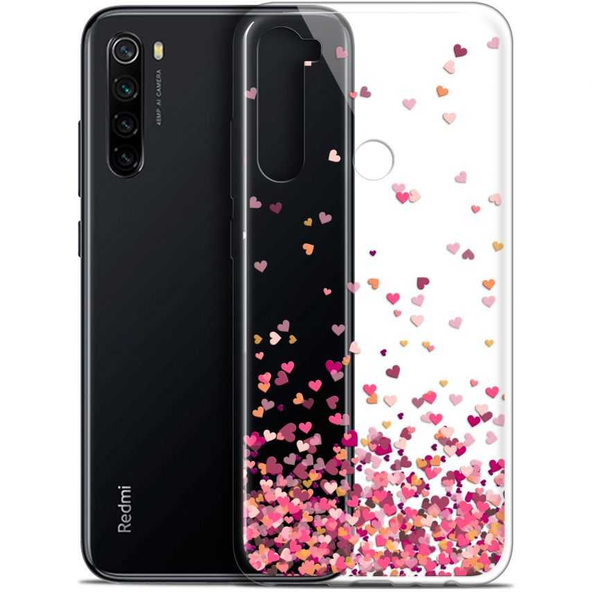 "Coque Gel Xiaomi Redmi Note 8 (6.3"") Extra Fine Sweetie - Heart Flakes"