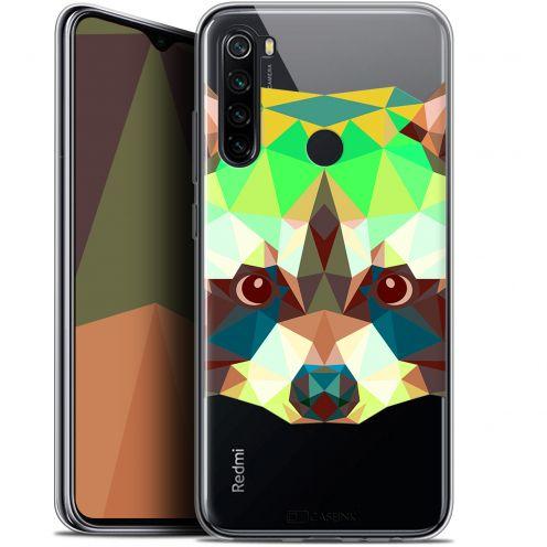 """Coque Gel Xiaomi Redmi Note 8 (6.3"""") Extra Fine Polygon Animals - Raton Laveur"""
