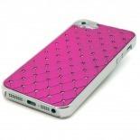 Visuel unique de Coque iPhone 5 Luxury Satin & Diamant Fushia