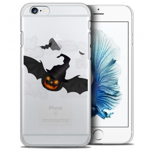 Coque Crystal iPhone 6/6s (4.7) Extra Fine Halloween - Chauve Citrouille