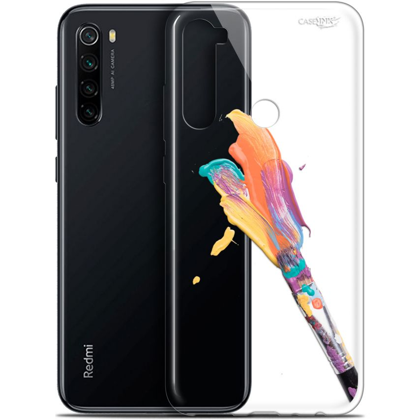 """Coque Gel Xiaomi Redmi Note 8 (6.3"""") Extra Fine Motif - Pinceau de Peinture"""