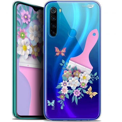 """Coque Gel Xiaomi Redmi Note 8 (6.3"""") Extra Fine Motif - Pinceau à Fleurs"""