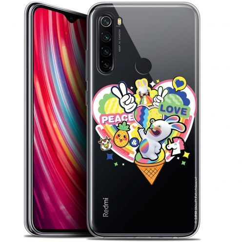 "Coque Gel Xiaomi Redmi Note 8 (6.3"") Extra Fine Lapins Crétins™ - Peace And Love"