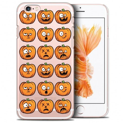 Coque Crystal iPhone 6/6s (4.7) Extra Fine Halloween - Cartoon Citrouille