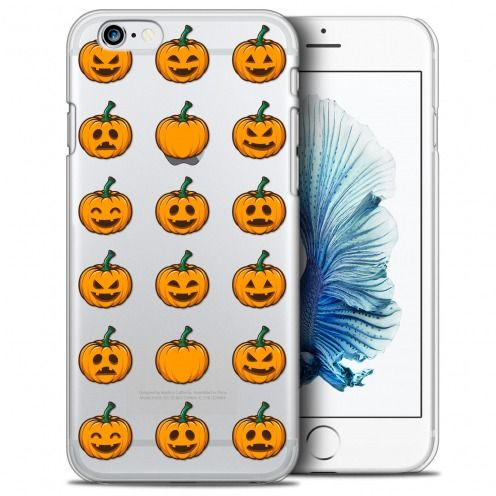 Coque Crystal iPhone 6/6s (4.7) Extra Fine Halloween - Smiley Citrouille