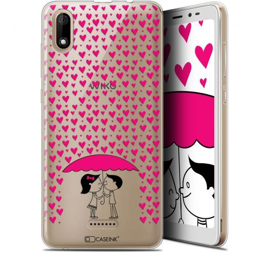 "Coque Gel Wiko Y60 (5.45"") Extra Fine Love - Pluie d'Amour"