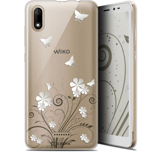 "Coque Gel Wiko Y60 (5.45"") Extra Fine Summer - Papillons"