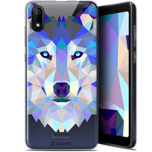 "Coque Gel Wiko Y60 (5.45"") Extra Fine Polygon Animals - Loup"