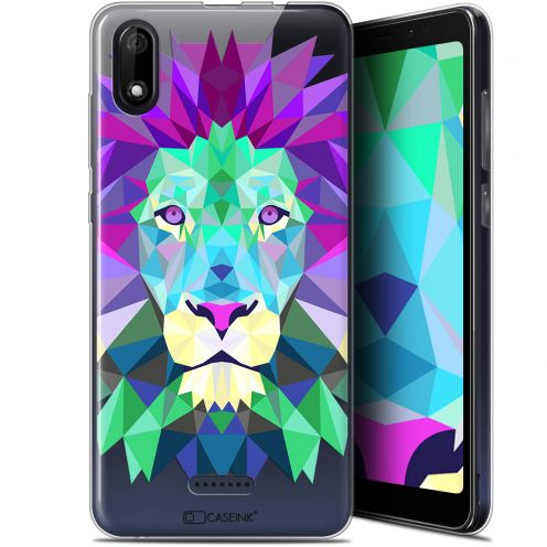"Coque Gel Wiko Y60 (5.45"") Extra Fine Polygon Animals - Lion"