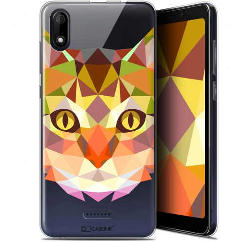 "Coque Gel Wiko Y60 (5.45"") Extra Fine Polygon Animals - Chat"