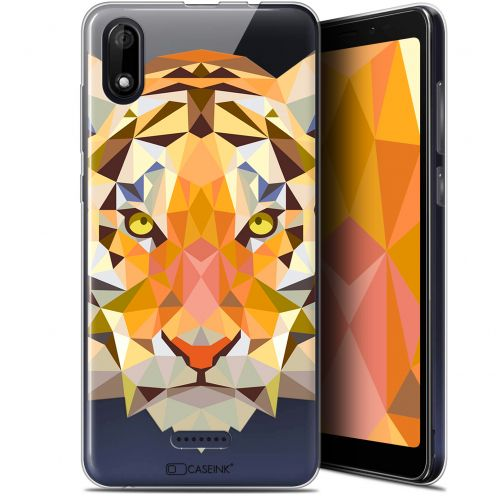 "Coque Gel Wiko Y60 (5.45"") Extra Fine Polygon Animals - Tigre"