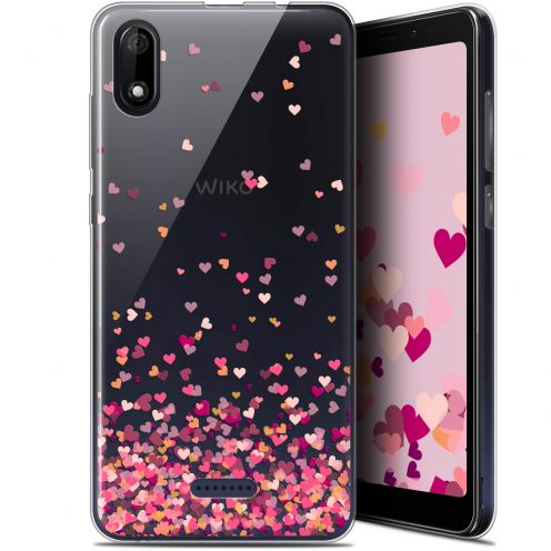 "Coque Gel Wiko Y60 (5.45"") Extra Fine Sweetie - Heart Flakes"