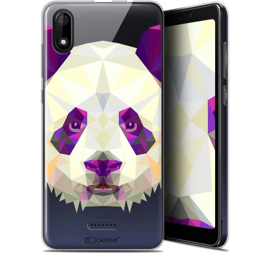 "Coque Gel Wiko Y60 (5.45"") Extra Fine Polygon Animals - Panda"