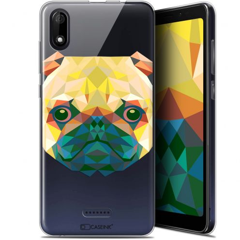 "Coque Gel Wiko Y60 (5.45"") Extra Fine Polygon Animals - Chien"