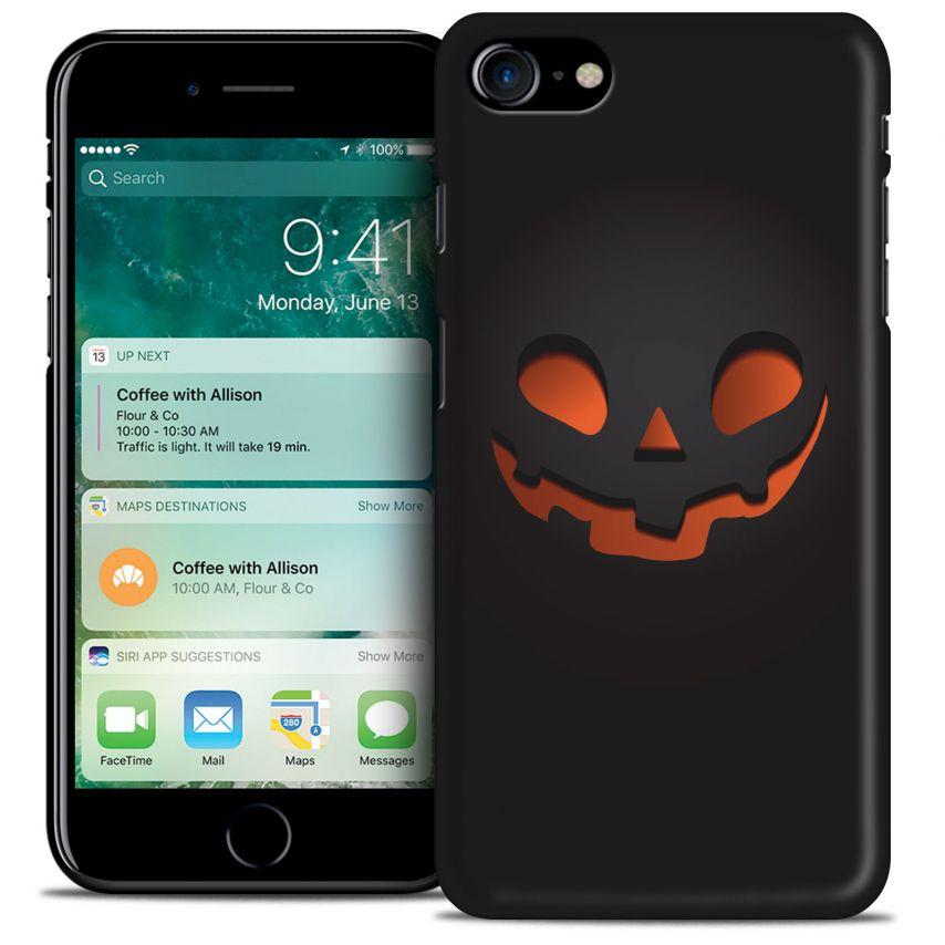 Coque iPhone 7 (4.7) Hallowen Extra Fine Noir Citrouille Souriante