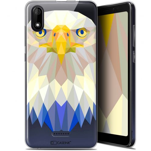 "Coque Gel Wiko Y60 (5.45"") Extra Fine Polygon Animals - Aigle"