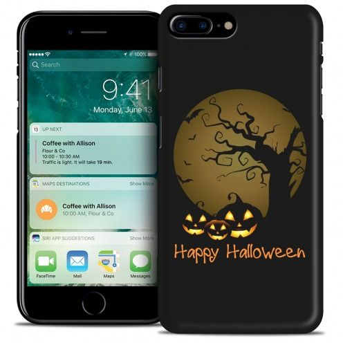 Coque iPhone 7 Plus (5.5) Hallowen Extra Fine Noir Happy