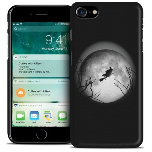 Coque iPhone 7/8 (4.7) Hallowen Extra Fine Noir Flying Sorciere