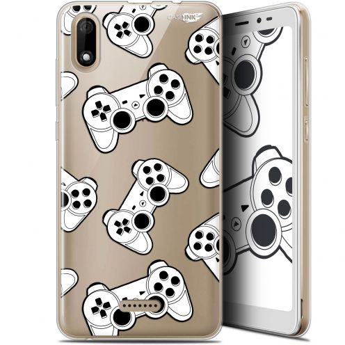 "Coque Gel Wiko Y60 (5.45"") Extra Fine Motif - Game Play Joysticks"