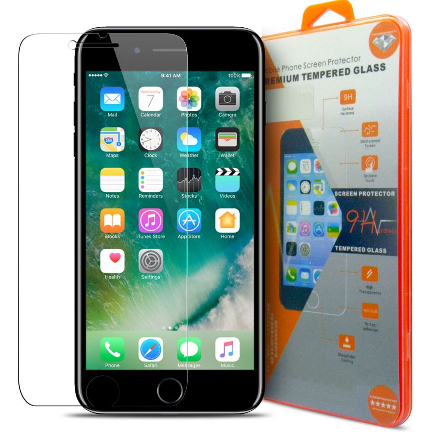 Protection d'écran Verre trempé Apple iPhone 7 Plus (5.5) - 9H Glass Pro+ HD 0.33 mm 2.5D