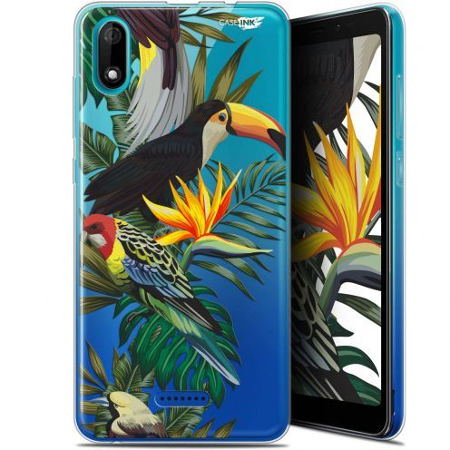 "Coque Gel Wiko Y60 (5.45"") Extra Fine Motif - Toucan Tropical"