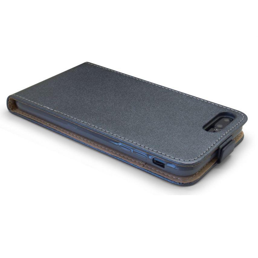 Coque Flexi Flip Apple iPhone 7 Plus (5.5) Cuirette Eco Graphite