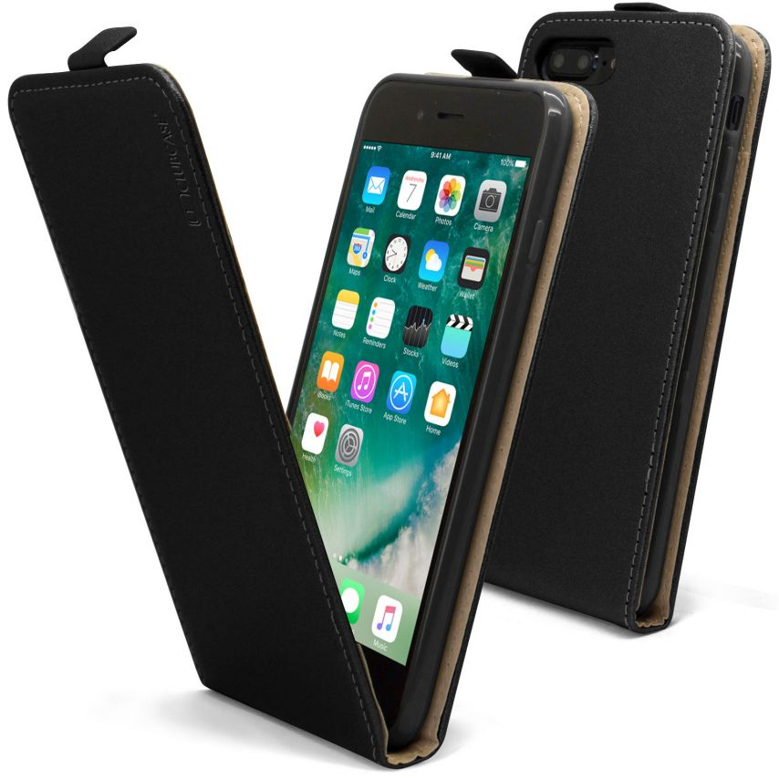 Coque Flexi Flip Apple iPhone 7 Plus (5.5) Cuirette Eco Noir