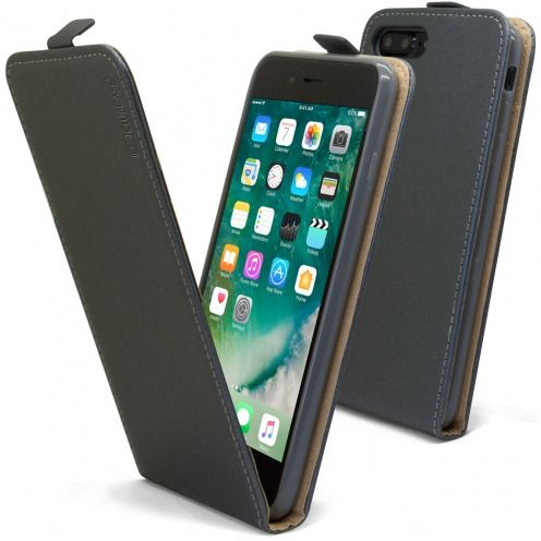 Coque Flexi Flip Apple iPhone 7/8 Plus (5.5) Cuirette Eco Graphite