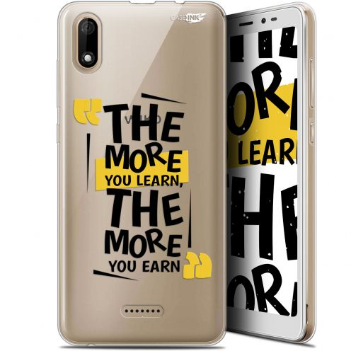 """Coque Gel Wiko Y60 (5.45"""") Extra Fine Motif - The More You Learn"""
