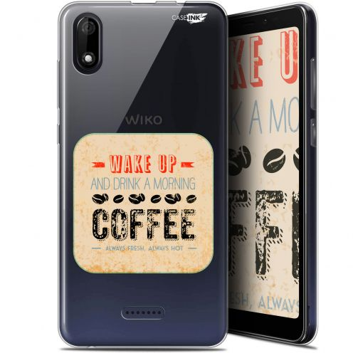 "Coque Gel Wiko Y60 (5.45"") Extra Fine Motif - Wake Up With Coffee"
