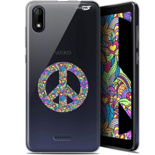 """Coque Gel Wiko Y60 (5.45"""") Extra Fine Motif - Peace And Love"""