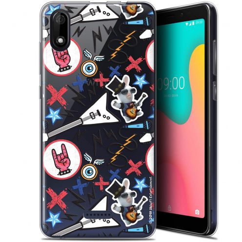 "Coque Gel Wiko Y60 (5.45"") Extra Fine Lapins Crétins™ - Rock Pattern"
