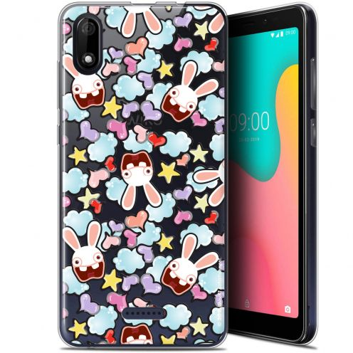 "Coque Gel Wiko Y60 (5.45"") Extra Fine Lapins Crétins™ - Love Pattern"